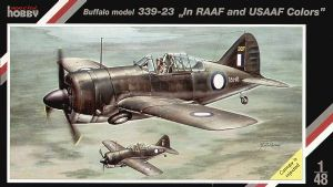 SH48057  	Brewster B-339 Buffalo model 339-23 'In RAAF and USAAF colors'